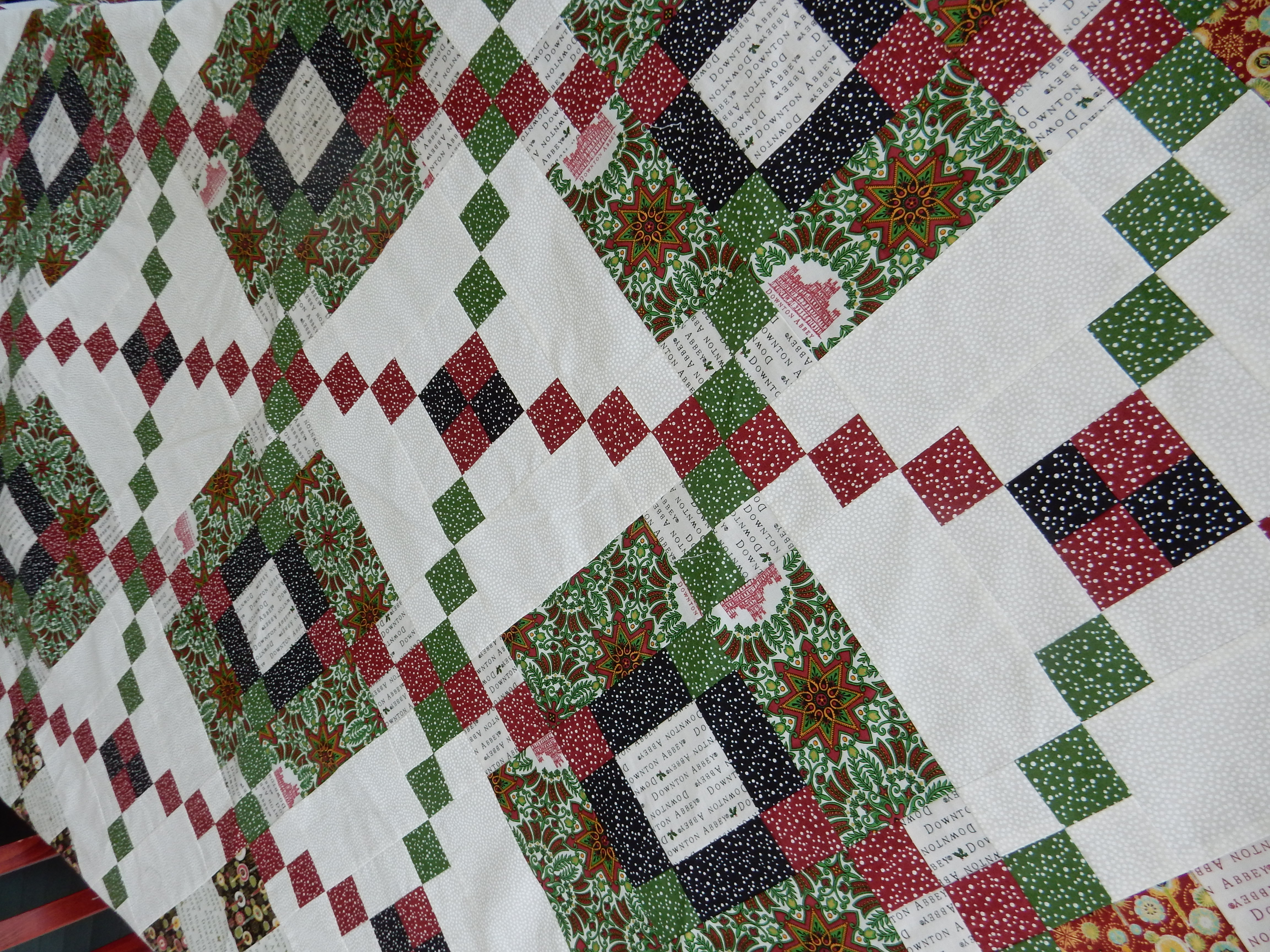Downton Abbey Christmas Quilt Handmade By Carole Carr